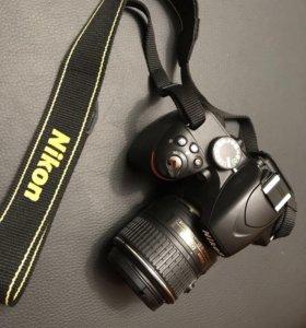 СРОЧНО ❗️Фотоаппарат Nikon d3200