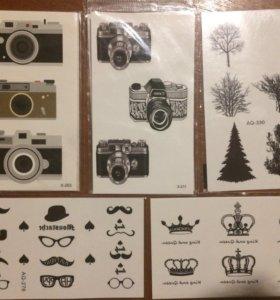 Временные тату минимализм фотоаппарат