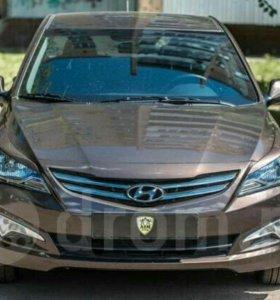 Реснички на фары Hyundai Solaris 2014-2017 г