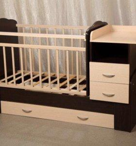 Детская кровать 2в1