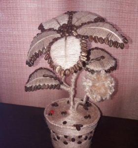 Кофейный Цветок (топиарий)