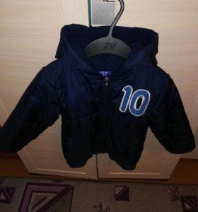 Утепленная куртка на 3-4 года