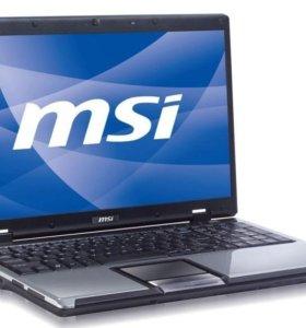 Ноутбук MSI CX500DX хорошее состояние Windows 7x64