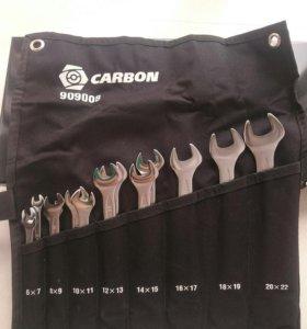 Набор рожковых ключей Carbon 14 шт