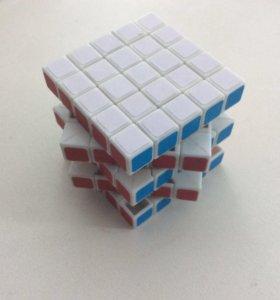 Кубик Рубика 5х5 (Наклейки,белый пластик)