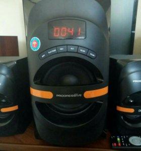 Аудиосистема 2.1 с блютуз