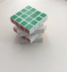 Кубик Рубика 4х4 (наклейки,белый пластик)