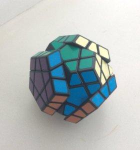 Кубик Рубика Мегаминкс Наклейки Чёрный пластик