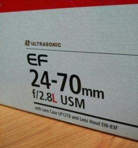 Коробка от Canon 24-70 mm, бумажки, чехол
