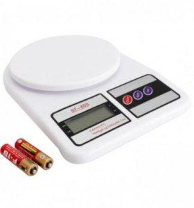 Весы кухонные электронные SF-400 (до 7кг) 2AA