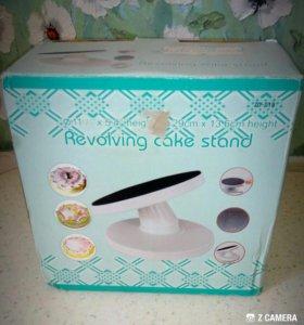 Поворотный столик подставка с наклоном для торта..