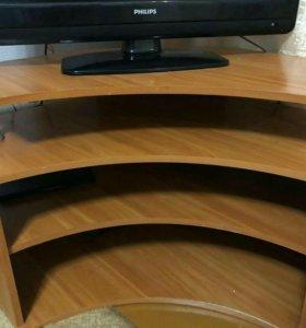 Тумбочка угловая под ТВ