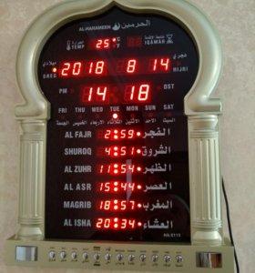 Ал Харамейн. Часы настенные с азаном для дома