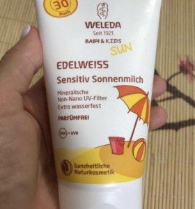 Weleda солнцезащитный крем для детей и взрослых