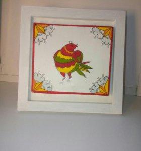 Картины в рамке ( птицы)