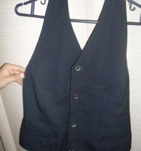 Школьная форма, юбка и жилет в полоску 46 размер