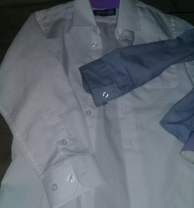 Рубашки школьные серые и белые