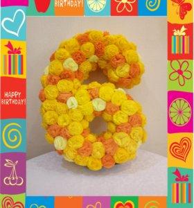 Цифра из цветочков
