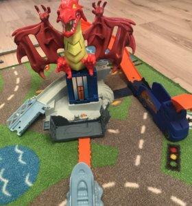 Новый Трек Hot Wheels дракон