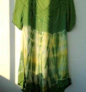 Туника платье индийское повседневное летнее