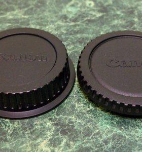 Крышки на объектив и фотоаппарат Canon.