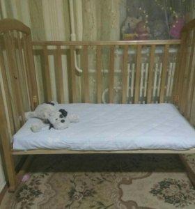 Кроватка детская+матрац