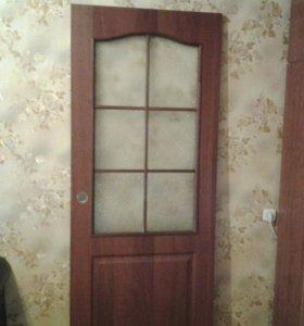 Межкомнатные двери на 80 см. (Итальянский орех)