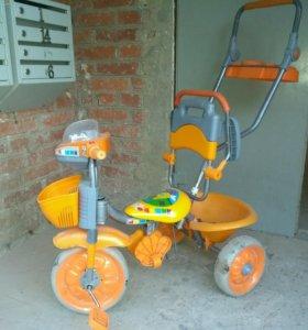 Велосипед трёхколёсный, управляемый