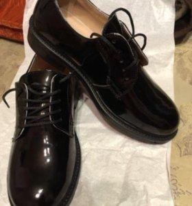 Военные Лакированные туфли