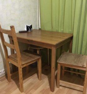 Стол и два стула IKEA
