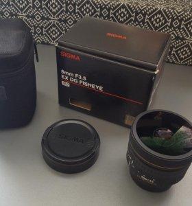 Sigma 8mm F3.5 EX DG Fisheye for Nikon