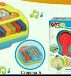 Телефон/пианино со светом и звуком