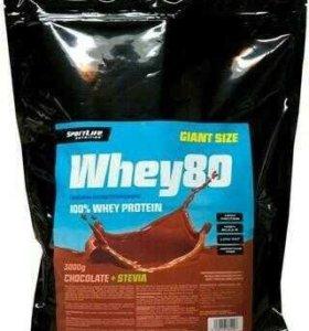 Whey80 Спортивное питание протеин 3 кг Финляндия