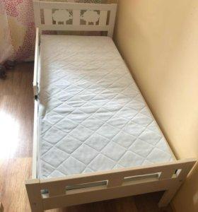 Кровать детская ikea с матрасом