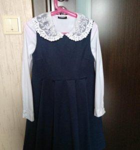 Сарафан button blue и блузка acoola