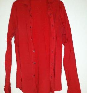 Рубашка мужская красная