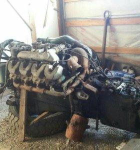 Двигатель скания с коробкой заводная