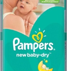 Pampers new baby dry 2(3-6 кг), 66 шт