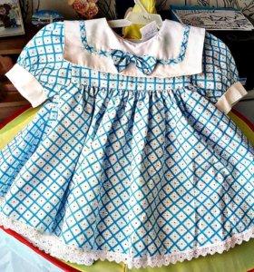 Новые платья на девочку 1-1,5 лет