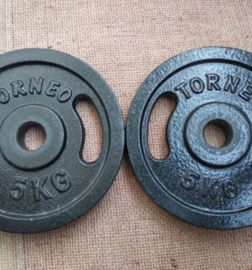 Блины Torneo 5 кг 30 мм
