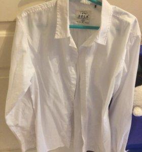 Рубашка белая в школу на 12 лет