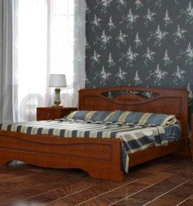 Кровати Елена 2.Массив сосны