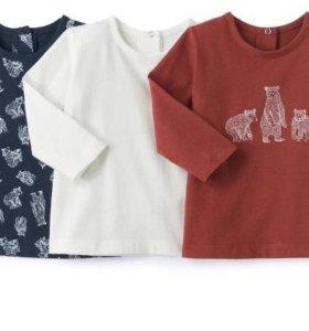 (Новые) футболки с длинным рукавом на 3 года