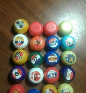 Шарики футбольные мячики