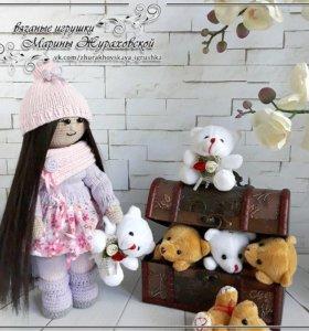 "Кукла ""Надежда"" в технике амигуруми"