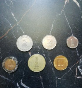 Набор монет Израиль