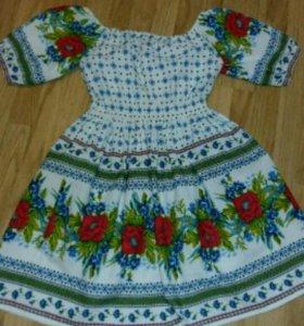 Платье для фотосессии в русском стиле.