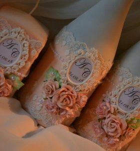 Декор свадебных аксессуаров на заказ