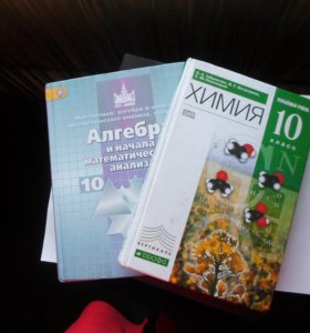 учебники Химия и Алгебра 10класс