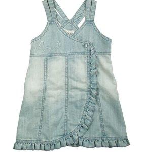 Сарафан Deloras. размер 110, голубая джинса